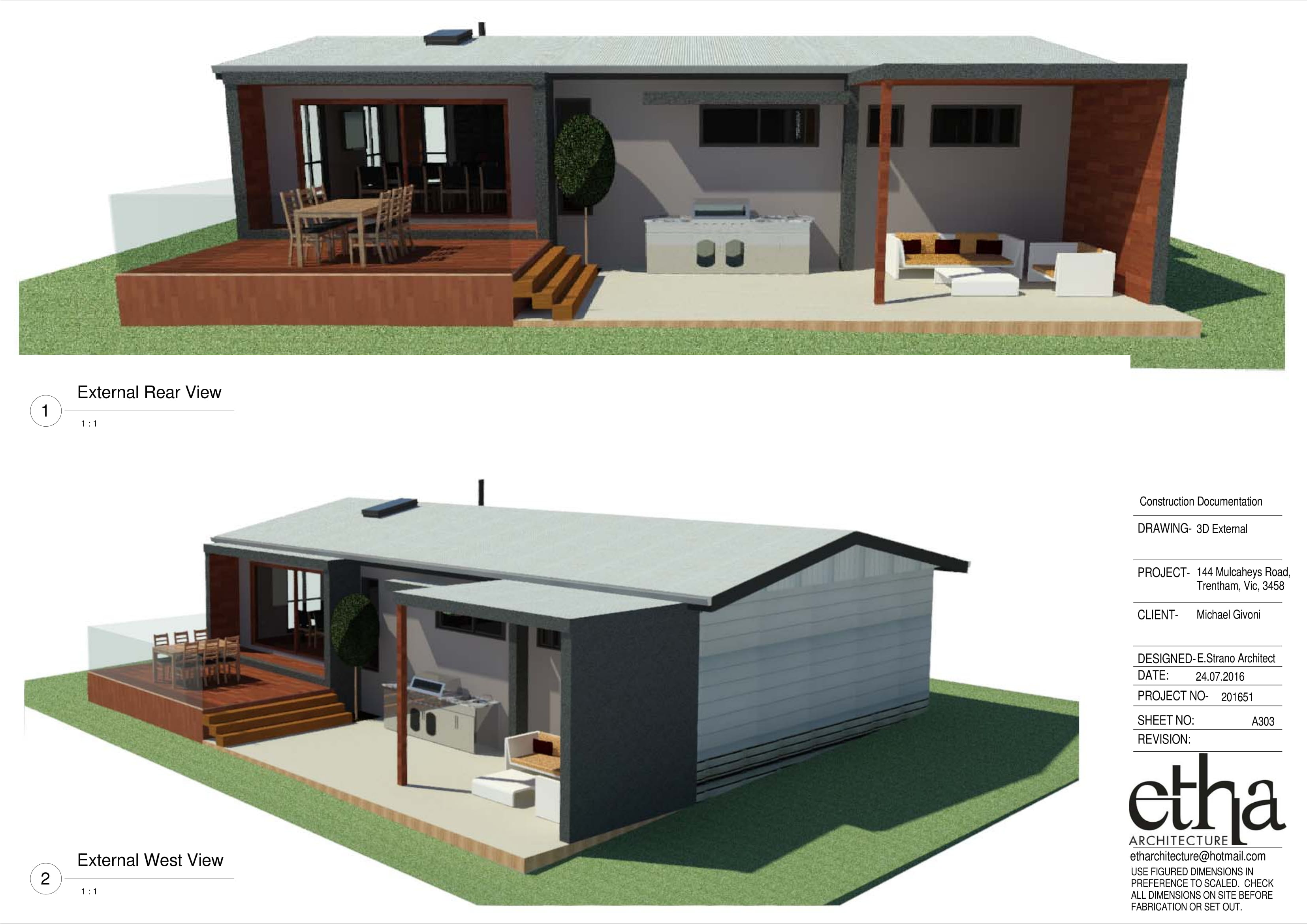 Cost Estimating Services for 144 Mulcahys Road Trentham Victoria.